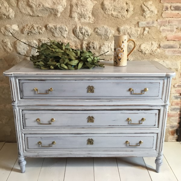 COMMODE LOUIS XVI GRIS (12)