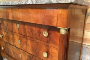 commode Empire en noyer