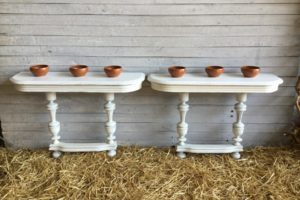 Paire console blanche atelier redoules (17)