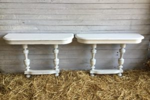 Paire console blanche atelier redoules (2)